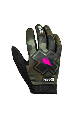 Muc-Off Camo MTB Gloves, Large - Premium, Handmade Slip-On Gloves For Bike Riding - Breathable, Touch-Screen Compatible Material