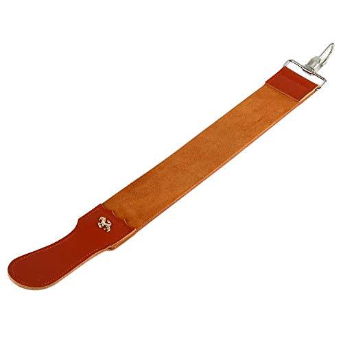 Strop in cuoio, vera pelle a due lati per affilare le forbici per...