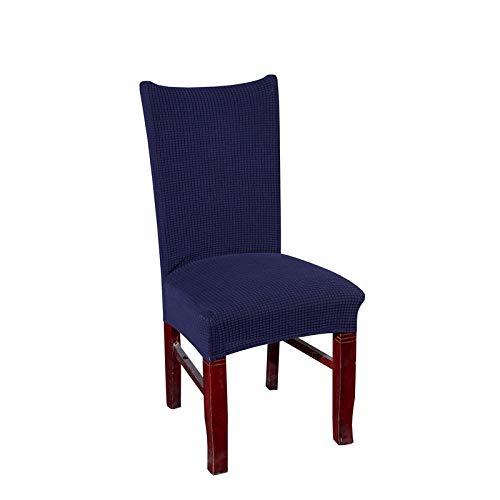 WDNEJKJH Fundas de sillas Forro Polar Azul Marino Fundas de Silla de Comedor en Spandex,Elásticas Fundas para Sillas de Comedor, Fundas Protectoras para Sillas, Funda para Silla Desmontable(4 Piezas)
