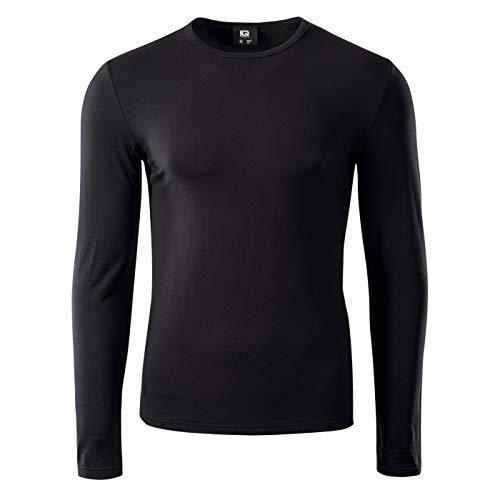 Intelligence Quality Milky LS, M-XXL - Camiseta de compresión para Hombre, Hombre, 72936, Negro, XX-Large