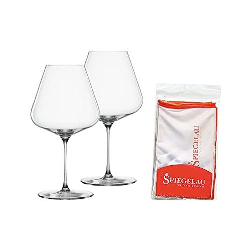 Spiegelau & Nachtmann, Juego de 2 vasos de cristal con paño de pulido