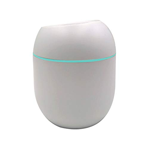 Portable Mini Humidifier, 320ml desktop humidifier with 7 LED Light Colors silent air humidifier, for Car Home Bedroom Travel Office School Outdoor