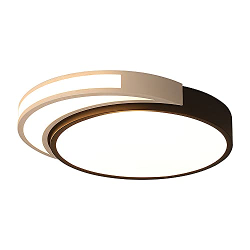LPFWSK Lámpara de Techo LED Ultrafina en Blanco y Negro, Ajustable 3000K-6000K, Montaje Empotrado, lámparas Redondas, Accesorios de iluminación para el hogar de Estilo Simple, adecuados para Salas de