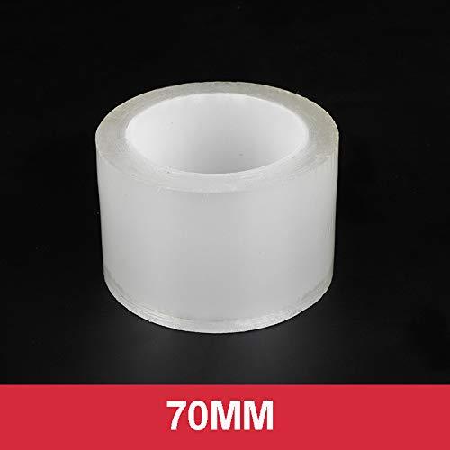 ZZMWLES Etiquetas Protectoras de protección de Borde de la Puerta Universal Coche Anti-colisión Tiro Nano Cinta Rasguño a Prueba de Coches Película Transparente (Color Name : 70MM, Size : 10M)