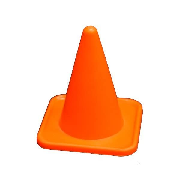 Workoutz 4″ Inch Mini Orange Sports Cones (Set of 12) Agility Field Markers...