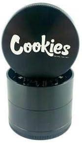 "Medium 2.2/"" Black Cookies 4 Piece Santa Cruz Shredder Cookies Aluminum Grinder"