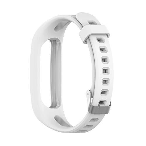 Babitotto Correa de silicona para reloj de repuesto compatible con Huawei Honor Band 4 Versión para correr, Huawei Band 3e/Band 4e Smart Watch Pulsera Reemplazo