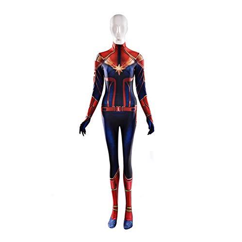 HEROMEN Avengers 4 Captain Marvel Tights,Disfraz De Halloween Anime Cosplay Carol Danvers,1-Childs