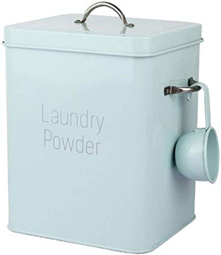 GYJ Rice Box Waschpulver Eimer, Waschpulver Box, Reis Eimer, Insektenfest, feuchtigkeitsbeständig Eisen-Aufbewahrungs Bucket Große Kapazität (Color : Blue)
