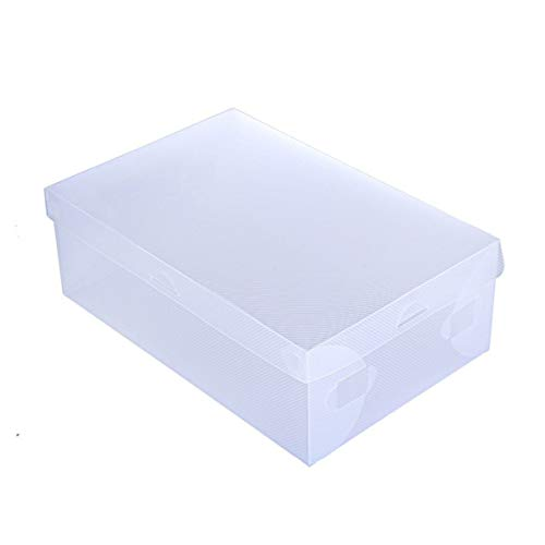 Logicstring Caja De Zapatos Transparente Cajón De Plástico Caja De Almacenamiento De Zapatos Unidad De Gabinete Plegable De Gran Tamaño Fácil Montaje