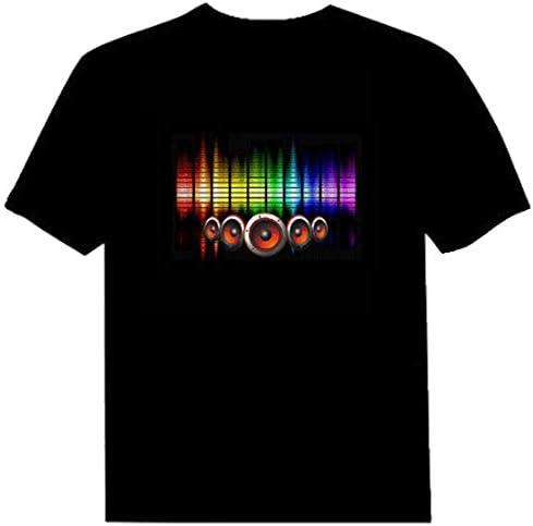 Parejas Adulto Control de Audio LED Intermitente Club Nocturno Fiesta