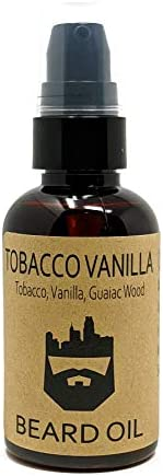 OakCityBeardCo Tobacco Vanilla 2oz Beard Oil Beard Conditioner Tobacco Vanilla Guaiac Wood product image