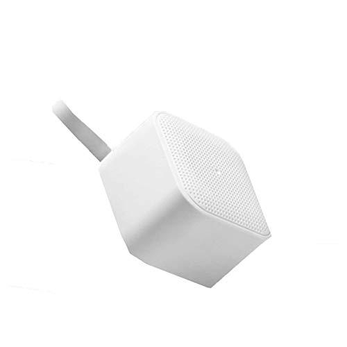 WZPG Mini Portátil con Subwoofer, Altavoz Bluetooth con Micrófono Incorporado, Sonido Envolvente 360 ° / Una Pieza De Selfie/Llamada De Voz/Mini Altavoz con Función De Acoplamiento,Blanco