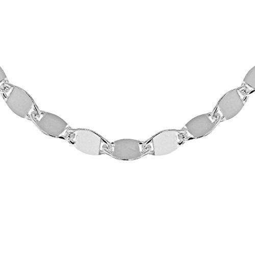 Tuscany Silver Damen Sterling Silber Flach Mirror 4.8mm Link Halskette 46cm/18zoll 8.19.6254