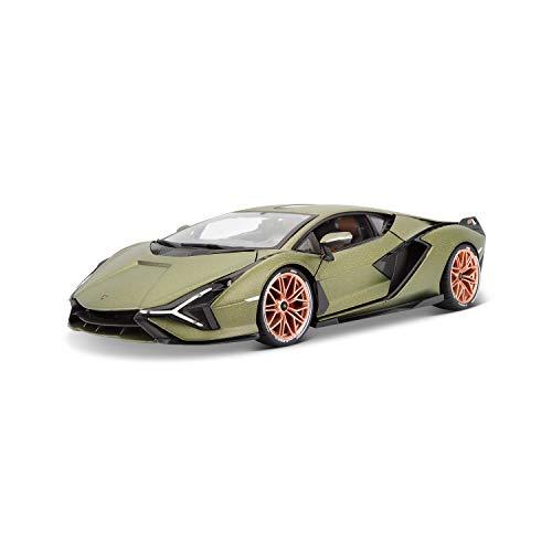Bburago 18-11046 Lamborghini Sian FKP 37 Modellauto im Maßstab 1:18, Electric Gold