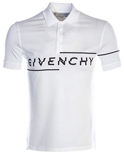 Givenchy Embroidered Logo Polo Shirt in White