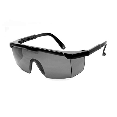 LAIABOR Occhiali Protettivi AntiGraffio Occhiali da Sole con Protezione Antiurto/UV/Antinebbia E AntiGraffio Bracci Regolabili, Protezioni Laterali per Saldatura/Brasatura/Silvicoltura,Grigio