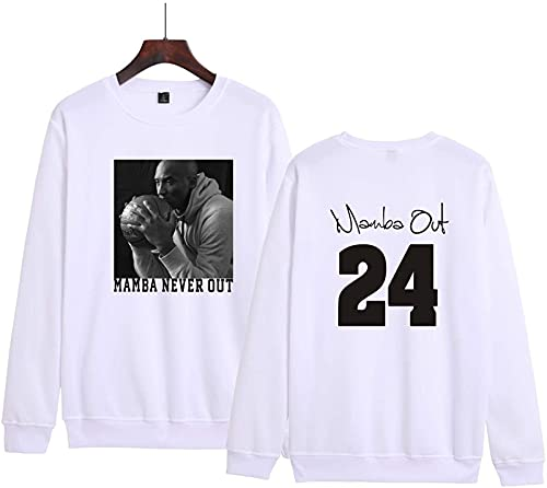 Kobe Casual Tendencia Moda Hombre Y Mujeres Suéter Tarajacking Elegante Abrigo(XXXXL, White)