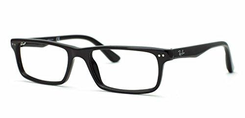 Ray-Ban Optical Montures de lunettes RX5277 Pour Homme Shiny black, 52mm