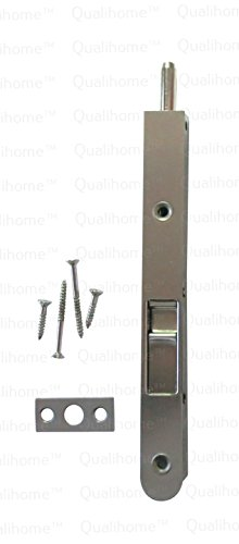 Premium Quality Door Flush Bolt with Strike and Screws (Satin Nickel)