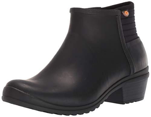 BOGS Women's Vista Ankle Waterproof Rain Boot, Black, 10