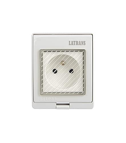 Enchufe estándar francés con interruptor de 1 o 2 enchufes IP55 (enchufe de 1 enchufe e interruptor intercambiable)