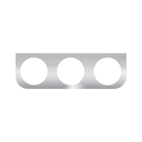 Grand General 81503 Stainless Steel L-Shaped Mounting Bracket with 3-Round Hole for 4