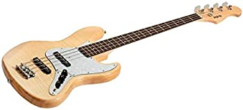 Monoprice Indio Jamm Flamed Maple Electric Bass Guitar