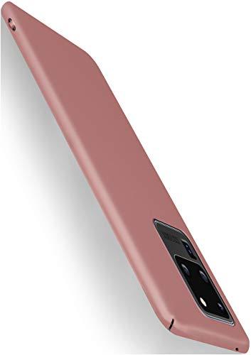moex Alpha Case für Samsung Galaxy S20 Ultra / 5G Hülle Stoßfest und Leicht Handyhülle Extra Dünn, Super Slim Schutzhülle Ultra Air Hybrid PC Hardcase aus Kunststoff - Rosegold
