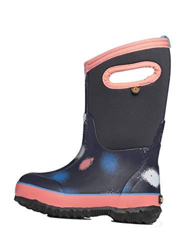 BOGS Classic Print Rainboot Waterproof Rain Boot, Funprint - Blue Multi, 11 US Unisex Little Kid