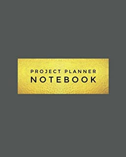 """Project Planner Notebook: Grey Organizer For Your Projects Or Meetings, Our Book Includes: Attendees List, Action Items, Notes, Follow Up, & To Do List   8""""x10"""" Large Softback Journal"""