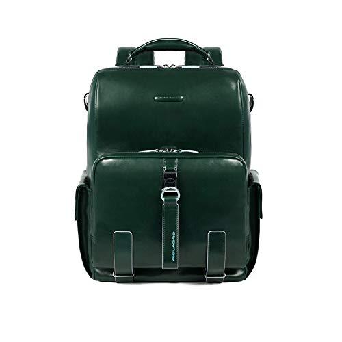 Piquadro Blue Square Laptop-Rucksack 14? dunkelgrün