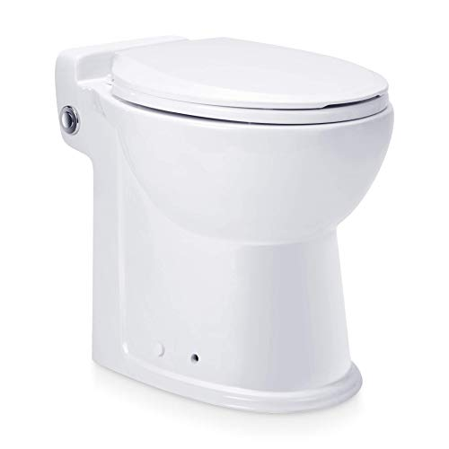 Aquamatix Compact - WC Toilette mit eingebauter Hebeanlage, integrierter Abwasserpumpe, Wassersparspülung, Keramik weiß