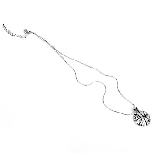 non-brand Halskette Schmuck Schlüsselbein Anhänger Halsketten mit Basketball-Anhänger Kette für Damen Herren