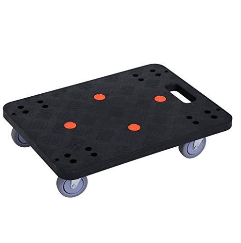 YO-TOKU Almacenamiento Carros Plataforma Muebles fácil moveing Dolly rectángulo Utilidad carro con ruedas en movimiento Transportador for Sorteos Armario lavadora secadora Sofá Mueble