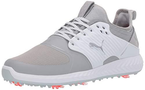 PUMA Herren Golfschuh Ignite Pwradapt Caged, Weiá (Gray Violet-puma Silver puma Weiß), 42 EU