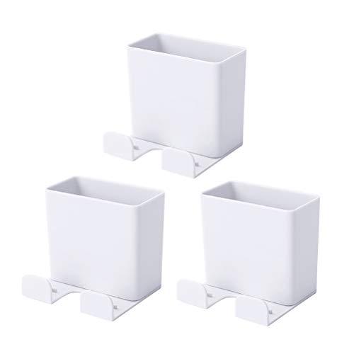 ifundom 3pcs montado en la pared titular de teléfono móvil carga rack caja de almacenamiento contenedor (blanco) Llamar teléfono Accesorios para mujeres hombres