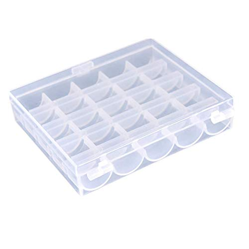 Bobbins Box, Bobbin Organizer Hard Plastic Empty Storage Case Container for Brother Janome Singer Sewing Machine Bobbins