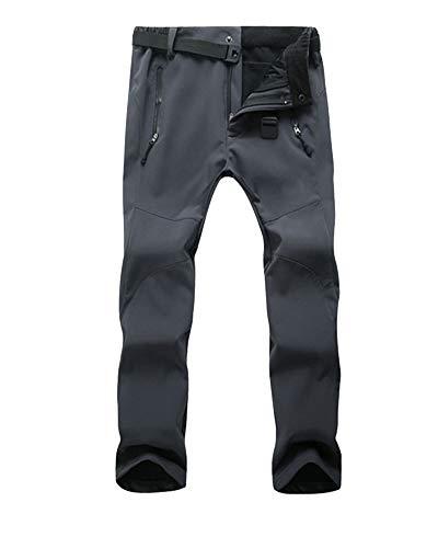 DaiHan Hombre/Mujer Pantalones de Trekking Pantalones de Softshell Transpirable de Escalada Pantalones Impermeable Deportes Calentar Invierno Mujeres Gris M
