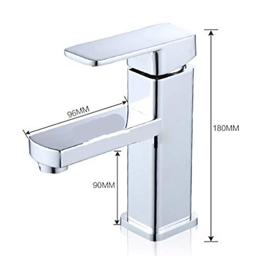 Waschbecken Wasserhahn Silber Modern Style Bassin-Hahn-Kalt- und Warmwassermischer Einhand-Badezimmer-Hahn-Geschenke,Silber