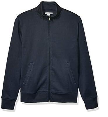 Amazon Essentials Men's Full-Zip Fleece Mock Neck Sweatshirt, Navy, Medium from Amazon Essentials
