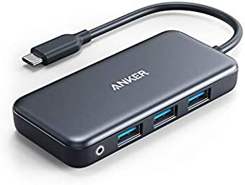 Anker 5-in-1 USB C Adapter with SD/TF Card Reader, 3 USB 3.0 Ports