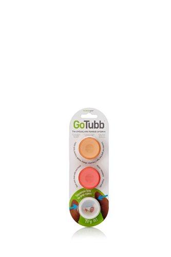 libre de BPA Humangear GoToob silicona Squeeze botella Puffy transparente apto para alimentaci/ón 3/unidades