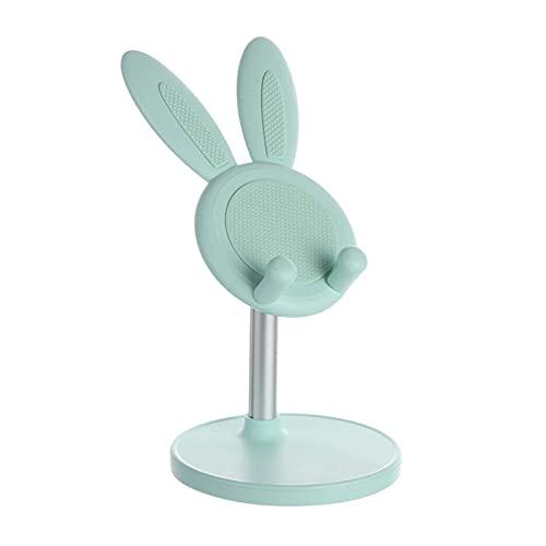 Shuiyuan Soporte lindo del teléfono del soporte de la tableta del conejo, estante de escritorio de los accesorios del teléfono móvil ajustable