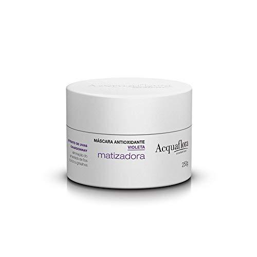 Acquaflora - Linha Antioxidante - Mascara Violeta Matizadora 250 Gr - (Acquaflora - Antioxidant Collection - Brassiness Control Hair Mascara Net 8.81 Oz) - Mascaras pour Cheveux