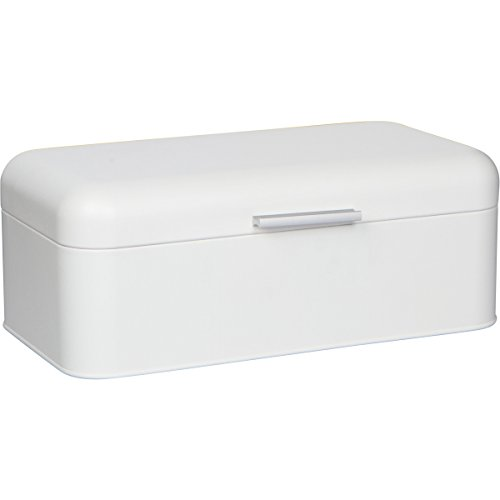 Large White Bread Box - Extra Large Storage Container for Loaves, Bagels, Chips & More: 16.5' x 8.9' x 6.5'