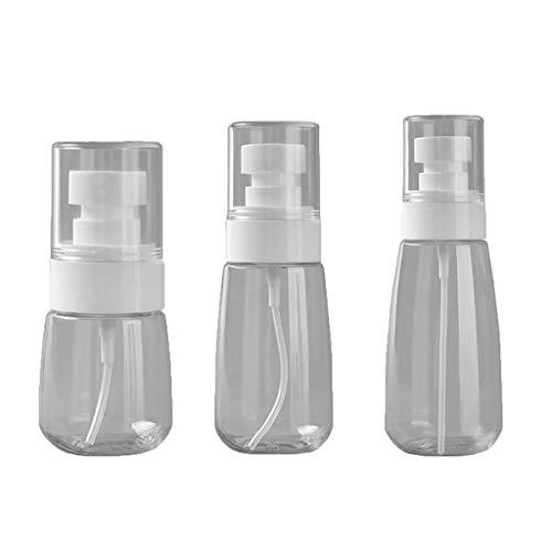 Ldd La esterilización de Alcohol en Spray Botella de Relleno Sin Bisfenol A Recargable plástica Transparente para la Limpieza, Viajes, empaquetado cosmético
