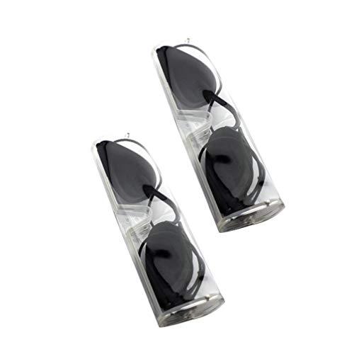 EXCEART 2 Sets Zonnebankbril Ooglapje Salonbruiner Bril Uv-Bescherming Brillenbril Met Hoesjes