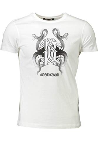 Roberto Cavalli Hombre T-Shirt HST65D 00053 Camiseta