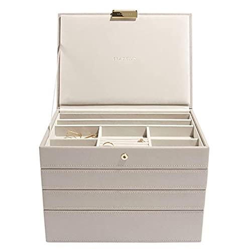 Stackers White & Sliver Classic - Joyero (tamaño mediano, 3 unidades),...